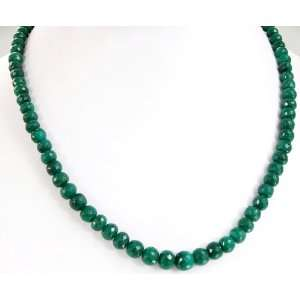Faceted Green Emerald Beaded Designer Handmade Necklace Jewelry
