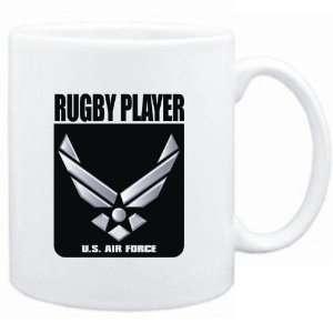 Mug White  Rugby Player   U.S. AIR FORCE  Sports Sports