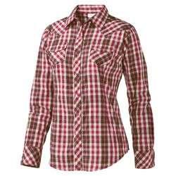 NEW Ariat Womens Brandy Long Sleeve Lurex Plaid Shirt 10008282 Wine