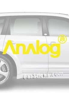 Burton Analog Snowboard vinyl sticker decal /D