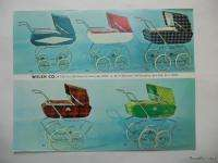Vintage Welsh Co Baby Stroller Carriage Catalog 1970 Original