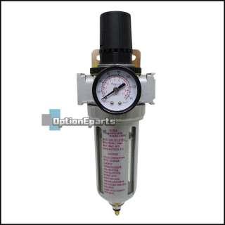 Air Compressor Water Filter W/ Regulator Gauge Oil/Water Trap 3/8 NPT