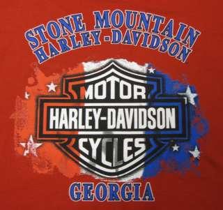 HARLEY DAVIDSON MENS CUSTOM DEALER TEE PATRIOTIC BAR & SHIELD