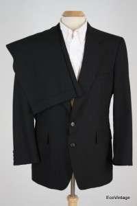 Pinstripe Wool Blend Athlete 2 Pc Pants Suit EXCELLENT 42 R 32 x 31.5