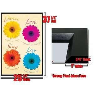 Framed Dance Love Sing Live Inspire Poster FrPp31620