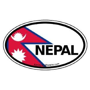 Nepal Flag Car Bumper Sticker Decal Oval