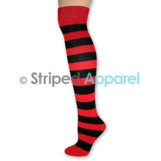 Knee High Socks Ladies Stripes Dance Team School Sports Clown Costume