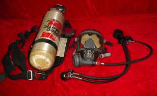 4500 PSI SCBA Air Pack, Mask, Harness and Cylinder Fireman Tank