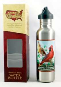 27 oz Northern Cardinal Water Bottle Stainless Steel