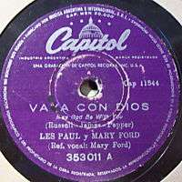LES PAUL & MARY FORD   VAYA CON DIOS   JOHNNY   78RPM