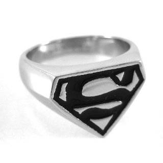 Superman Logo Ring Size 8 Stainless Steel (SMSSRG20