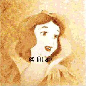 NEW *SEPIA DISNEY PRINCESS SNOW WHITE* Cross Stitch PATTERN
