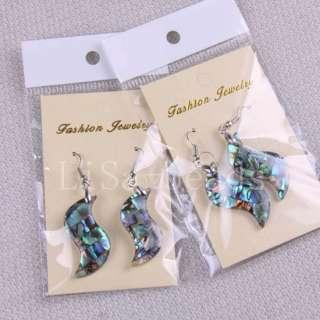 New Zealand Abalone Shell Beads Dangle Earrings LU173