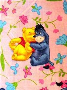 New Eeyore Disney Fabric BTY Winnie The Pooh Cartoon Flowers