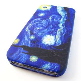 VAN GOGH STARRY NIGHT Hard Snap On Case Cover Apple iPhone 4 4s Phone