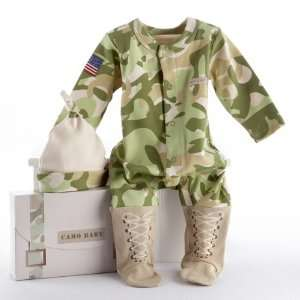 Big Dreamzzz Baby Camo Two Piece Layette Set in Backpack Gift Box