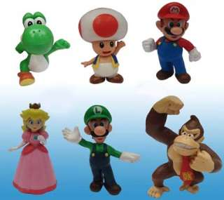 Super Mario Bros Mini Figures Wave 2 Set Of 6 *New*