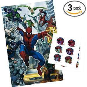 Amazing Spider Man Party Game, 2.64 Ounce Packages (Pack