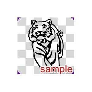 ANIMALS PROUD TIGER 13 WHITE VINYL DECAL STICKER