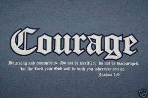 CEA Jesus Christ T shirt, Courage, S M L XL+, Know Him