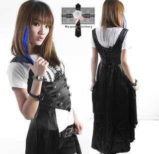Kei Royal Victorian EGL Vampire Txuedo Satin Gothic Emo Duke Vest Top