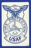 USAF AIR FORCE FIRE PROTECTION BADGE MILITARY DECAL