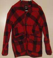 Woolrich Hunting Vtg 40s Red Plaid Wool Jacket 44