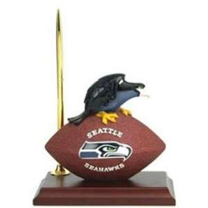 Seattle Seahawks Desk Clock & Pen Set
