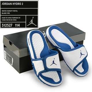 NIKE JORDAN HYDRO 2 white royal blue sandals mens SZ 8