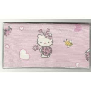 Checkbook Cover Sanrio Hello Kitty Ladybug Pink
