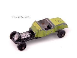 Vintage Die Cast Metal Hot Rod Midgetoy Lt Green