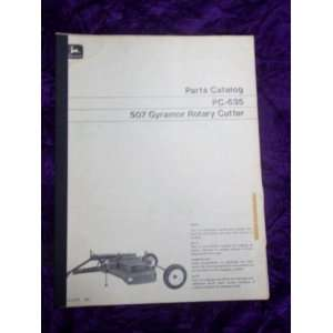 John Deere 507 Gyramor Rotary Cutter OEM Parts Manual: John
