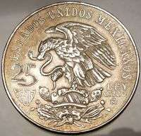 SUMMER OLYMPICS XIX Mexico City 1968 Huge SILVER Mexican Coin Eagle
