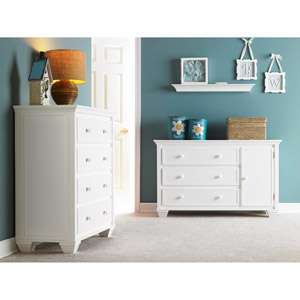 Portland 4 Drawer Dresser, Solid Wood Drawer Dresser, White Drawer