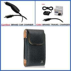 Premium LG Quantum C900 Leather Vertical Case with Car and Travel