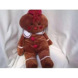 Gingerbread Boy Christmas Plush Toy JUMBO 21 Collectible