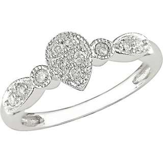 1/6 Carat T.W. Diamond Vintage Style Ring in 10kt White