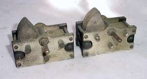 Federal Variable Air Capacitors Antique Radio Brass