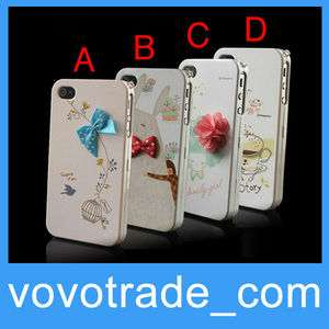 Beautiful Hard Front + Back Cover Case Skin for Apple iPhone 4 4G 4S