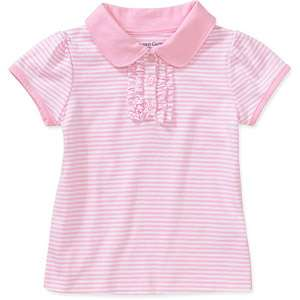 Faded Glory   Baby Girls Short Sleeve Polo Shirt Baby Clothing