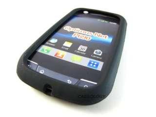 BLACK SOFT RUBBER GEL SKIN CASE COVER FOR LG OPTIMUS NET P690 PHONE