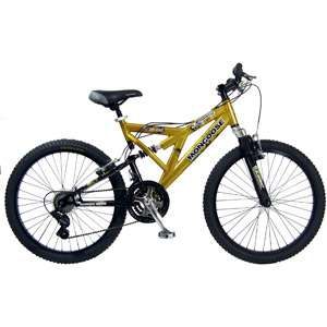 24 Mongoose Metric Boys Bike, Gold