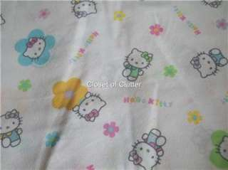 Hello Kitty Character Flat Full/Double Bed Sheet (Fabric)
