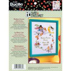 Mary Engelbreit Mother Goose Birth Record Counted Cross Stitch Kit