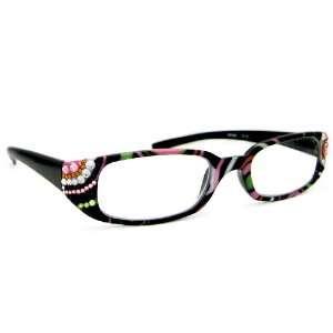 York High Quality Multi Black Frame Womens Fashion Reading Glasses