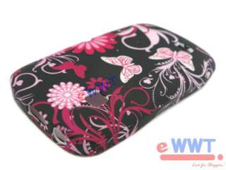 Cover Printed Black Pink Silicone Case+Film for Samsung S5670 Galaxy