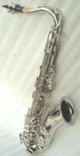 NEW SILVER TENOR SAXOPHONE SAX W/5 YEARS WARRANTY.