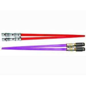 Mace Windu and Darth Maul Lightsaber Chopsticks Set of 2 Toys & Games