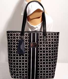 NWT Tommy Hilfiger Black Shopper Tote Handbag Bag Purse