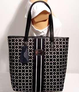 NWT Tommy Hilfiger Black Shopper Tote Handbag Bag Purse